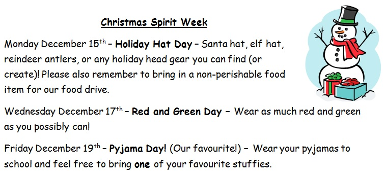 christmas spirit week december 8 2014 full resolution 758 347 - What Day Of The Week Is Christmas On