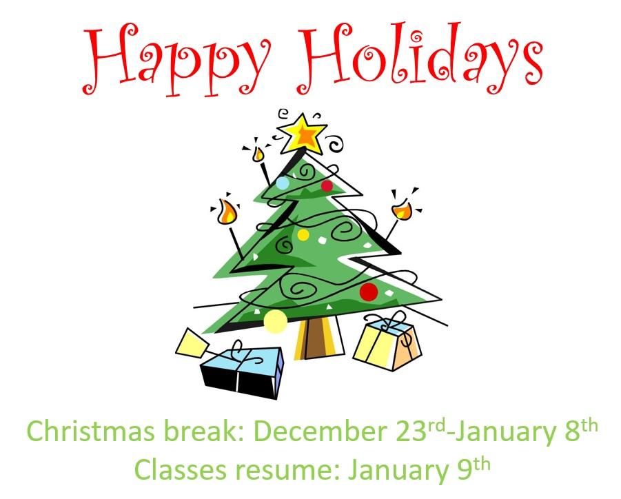 Christmas Break Ecole Opasquia School